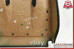 06-11 Mercedes W219 CLS500 Front Right Seat Back Plate Cushion Cover Panel Black