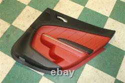 17' Charger R/T Black Red Right Rear Interior Door Trim Panel Passenger Back