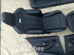 2016 BMW M3 F80 Front And Back Carbon Structure Cloth Seats With A Door Panels
