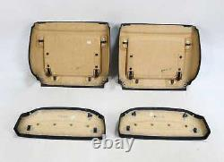 BMW E65 E66 Front Seats Back Rear Cover Panels Wood Trims Pockets Black Leather