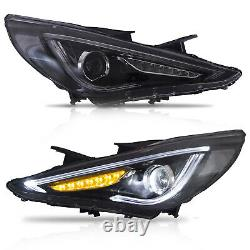CLEAR Headlights+SMOKED Taillihgts for SONATA 11-14 GLS Limited SE 11-13 GL