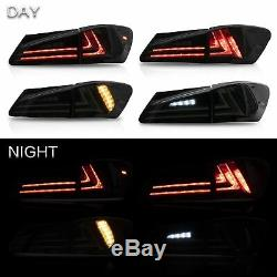 CLEAR LED Headlights + SMOKED LED Taillights for 06-13 IS250/350 Sedan 08-14 ISF