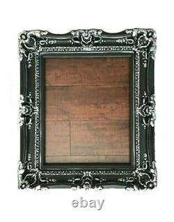 Large Black Frame for Pictures, Art, Canvas or Mirror, Baroque Style 20x24
