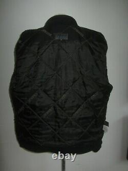 Messori Sz 50 Black Wool MIX Zip Front Textured Front& Back Panel High Neck Coat