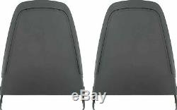 OER Early Style Black Bucket Seat Back Panel Set 1970-71 Charger Challenger Cuda