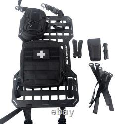 Tactical Rigid MOLLE Panel with Organizer Storage Bag Vehicle Car Seat Back