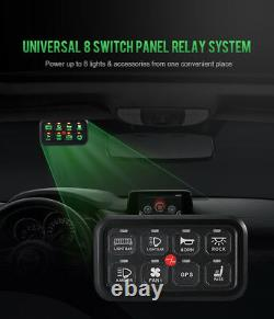 Upgrade 8 Gang Switch Panel Green LED Back Lights for Chevy Silverado GMC Pickup