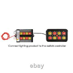 Upgrade 8 Gang Switch Panel Green LED Back Lights for Ford F-150 F-250 F-350 450